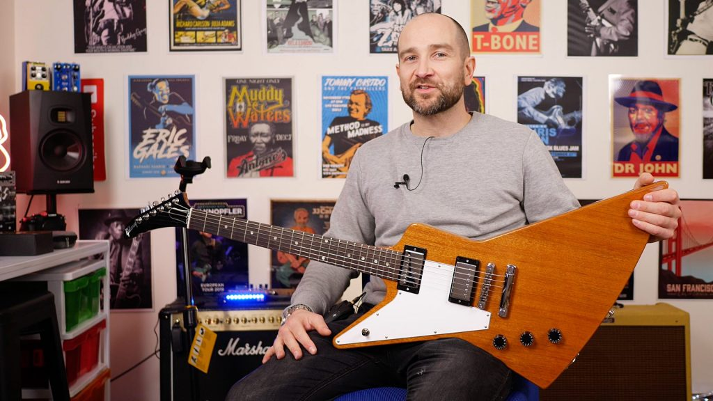 Shane Playing the Gibson Explorer